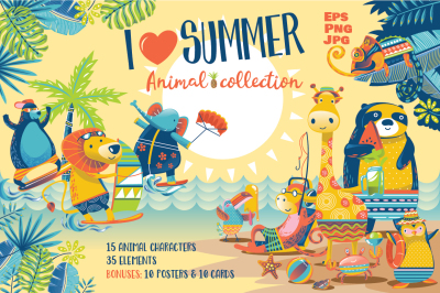 I Love Summer - Animal Collection
