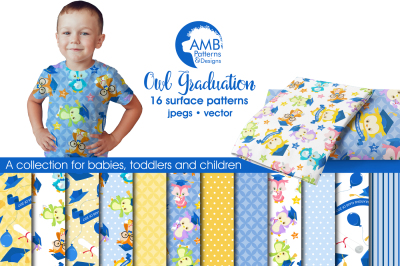 Owl Graduation Surface Patterns, Owl Papers, AMB-1217
