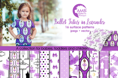 Ballet Surface Patterns in Lavender, Ballet Papers, AMB-1320