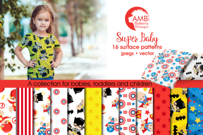 Superhero Baby Patterns, Superhero Papers, AMB-1338