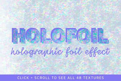 Realistic Holographic Foil Textures