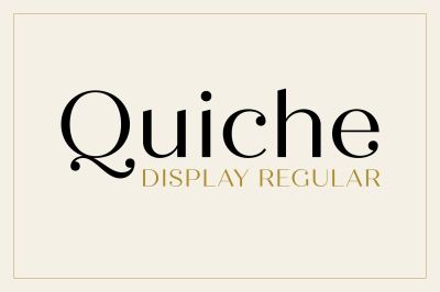 Quiche Display Regular Font