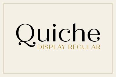Quiche Display Regular Font