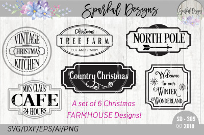 CHRISTMAS IN JULY-FARMHOUSE CUT FILES