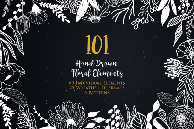 Hand Drawn Floral Elements Vol.2