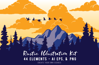Rustic Illustration Kit Volume 1