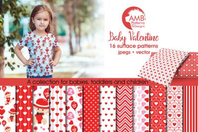 Baby Valentine patterns, Baby Valentine papers AMB-1581