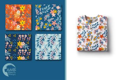 Secret Garden patterns, Floral papers AMB-1835