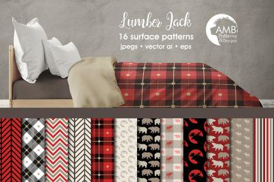 Lumber Jack patterns, Lumber Jack papers AMB-1871