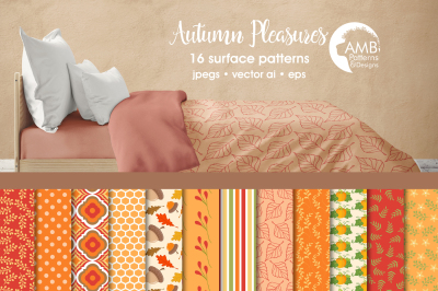 Autumn Pleasures Surface Patterns, Autumn Papers, AMB-1403