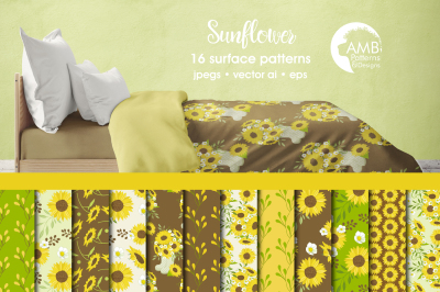 Sunflower Surface Patterns, Sunflower Papers, AMB-1431