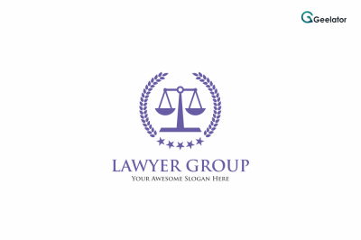 Lawyer Group Logo Template