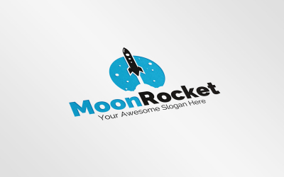 Moon Rocket Logo Template