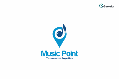 Music Point Logo Template