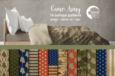 Camo Army Surface Patterns, Army Papers, AMB-1879