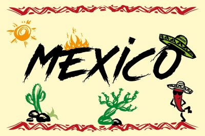Mexico hand drawn elements