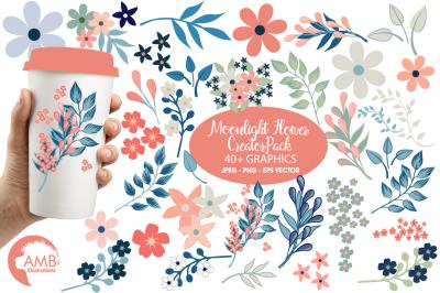 Moonlight Flower MEGA Design Pack AMB-1840