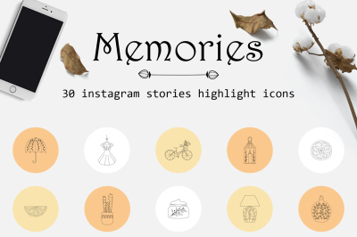 Instagram stories highlights icons
