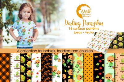 Darling Pumpkin patterns, Darling Halloween papers AMB-2262