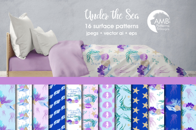 Under the Sea patterns, Under the Sea papers AMB-2343