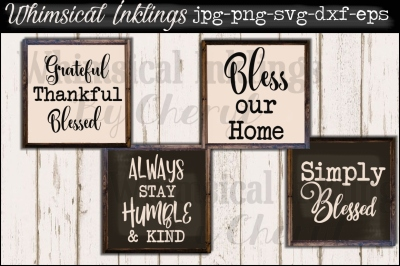 Simple Blessings SVG Set