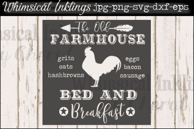 The Old Farmhouse Bed and Breakfast SVG