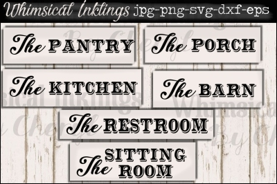 The Pantry and Such SVG Sign Set