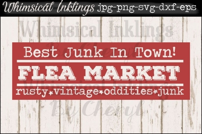 Flea Market VIntage Sign SVG