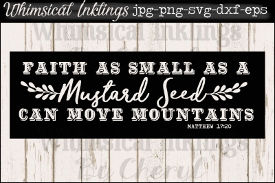 Mustard Seed Vintage Sign SVG