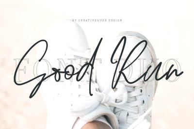 Good Run Script Font