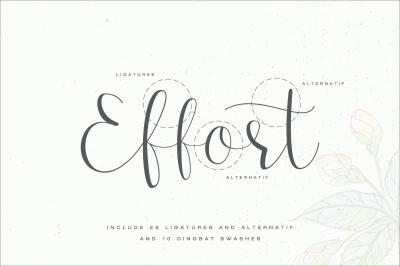 Effort - Calligraphy Font