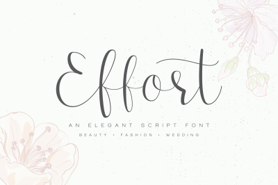 Effort Calligraphy Font - 50% OFF