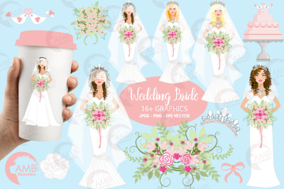 Wedding Bride cliparts AMB-937