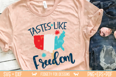 Tastes like Freedom Svg, Dxf Eps Pdf Png Cutting files
