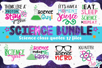 Science class bundle, back to school svg cut files