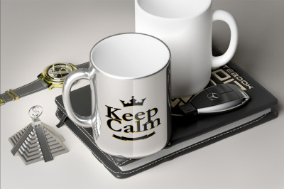 Chromed Luxury Mug - Mockup