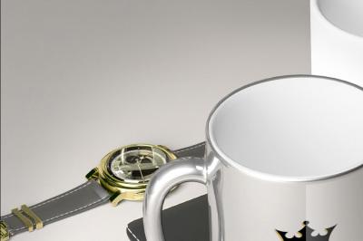 Chromed Luxury Mug - Mockup