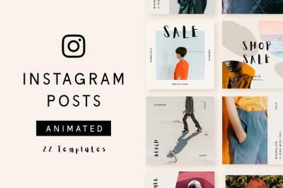 Animated Instagram Post Templates - Minimalist