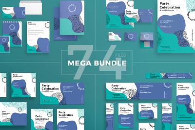 Design templates bundle | flyer, banner, branding | BBQ Party Celebration