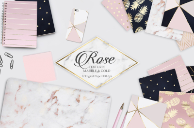 Rose Marble Gold Textures