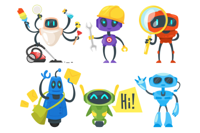 6 Robots of different professions