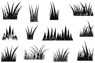 Black grass clipart, Texture grass border clip art, divider