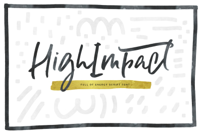 High Impact Font