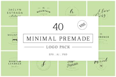 Minimal Premade Logo Bundle V05