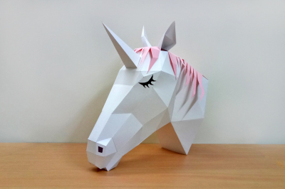DIY Unicorn Trophy - 3d papercraft