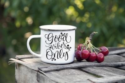 Enameled Steel tin camp mug mockup camping cup mock up psd smart vegan