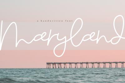 Maryland - A Handwritten Script Font
