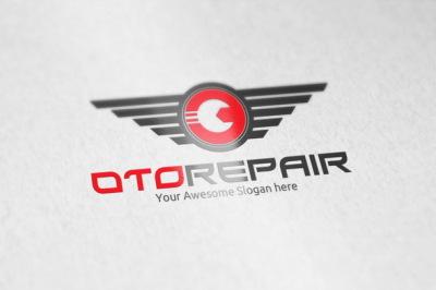 Oto Repair Logo Template