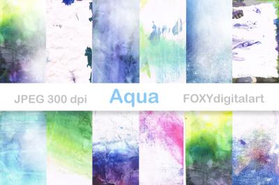 Watercolor Digital Paper Brush Strokes