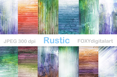 Watercolor Digital Paper Grunge Rustic Vintage